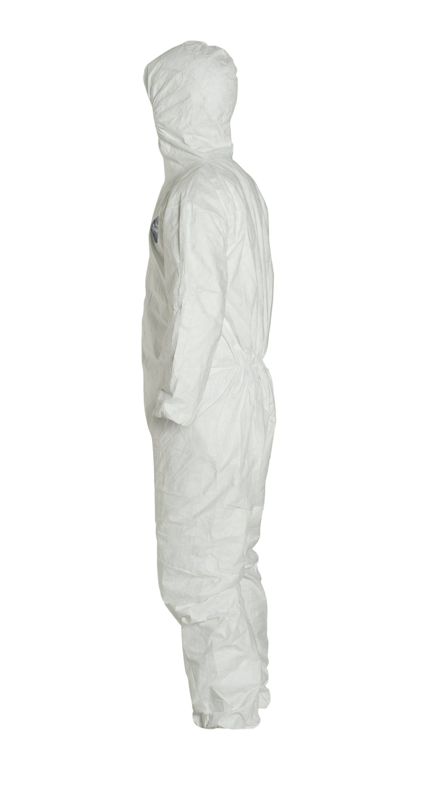 DuPont Tyvek 400 TY127S  Protective Coverall with Hood, Disposable, Elastic Cuff, White, X-Large (Pack of 25) by DuPont (Image #8)