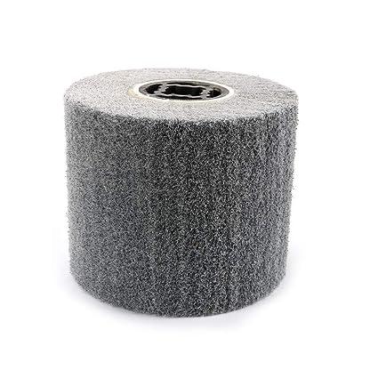 Gray Non-woven Abrasive Fiber wheel Wire Drawing Polishing Burnishing Wheel