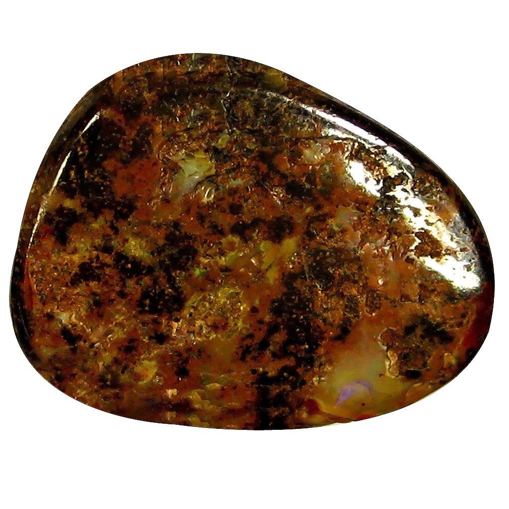 ボルダーオパール ルーズジェームズ 13.18 ct Fancy Shape (20 x 16 mm) Play of Colors Australian Koroit Boulder Opal Natural Gemstone   B07BVW633H