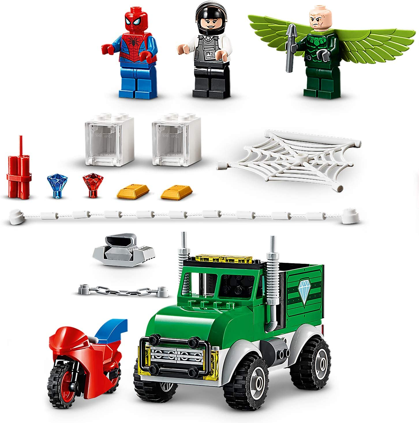 in hand~ NEW~ Lego 76147 Spider-man Vulture/'s Trucker Robbery 93 pieces age 4