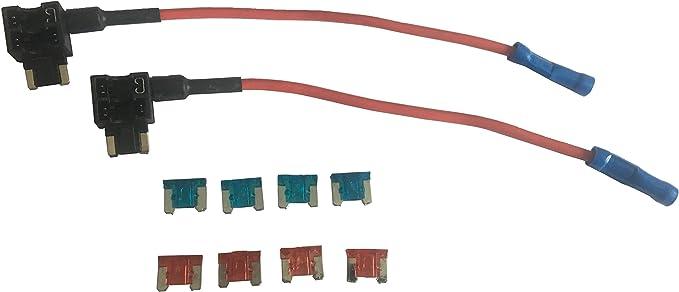 8 Pieces Mini Fuse 5Apm 7.5Apm 10Apm 15Apm KOLACEN Automotive Car Truck 2 Pieces 16 Gauge Add-a-Circuit Fuse TAP Adapter for Mini Blade Type Fuse