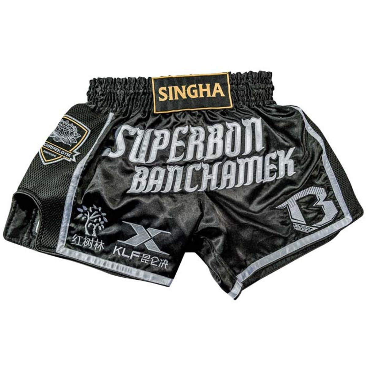 Booster Muay Thai Shorts, Superbon Signature, Shin Guards, Muay Thai Größe M