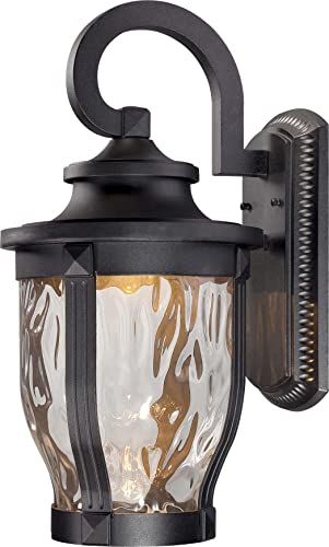 Minka Lavery Outdoor Wall Light 8763-66-L Merrimack Cast Aluminum Exterior LED Wall Lantern, Black