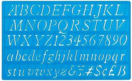 Helix Plantilla Con Alfabeto 20 Mm Letra Cursiva Amazon Es Hogar