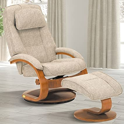 Gentil Comfort Chair Company Oslo Collection By Mac Motion Bergen Recliner And  Ottoman In Teatro Linen Fabric