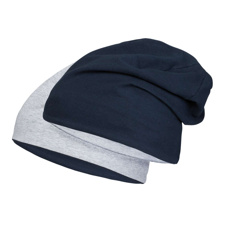 Jersey Beanie aus hautfreundlicher Baumwolle | dünne Sommer Mütze für Damen und Herren | Muetze sitzt auch beim Sport perfekt durch 5% Elasthan | verschiedene Größen und Farben 55-9301