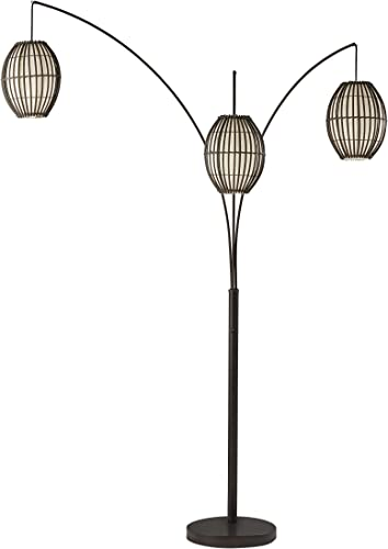 Adesso 4026-26 Maui Arc Lamp 82-inch 3-Light Floor Lamp Antique Bronze Finish Standing Lamp. Home Decor Lighting Fixture