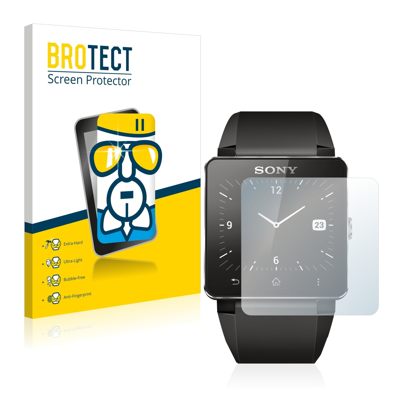brotect Protector Pantalla Cristal Compatible con Sony Smartwatch 2 Protector Pantalla Vidrio Dureza 9H AirGlass