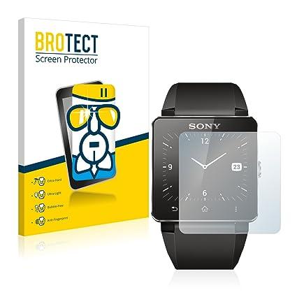 BROTECT Protector Pantalla Cristal Compatible con Sony Smartwatch 2 - Vidrio 9H, AirGlass