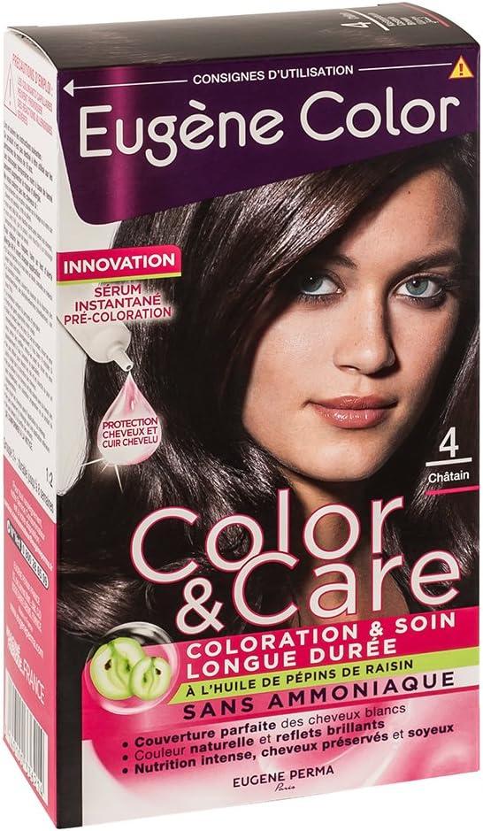 Eugène Color - Tinte 4 castaño 6 ml - Lote de 2