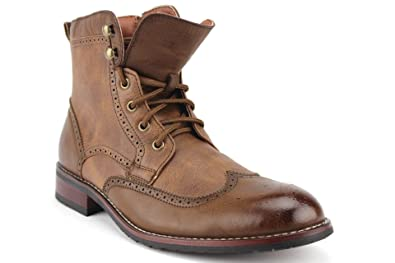 20182017 Boots Polar Fox Mens 808567 Wing Tip Zippered Dress Boots For Sale Online