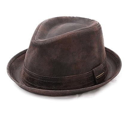 Stetson Men s Radcliff Leather Trilby Hat at Amazon Men s Clothing ... 48e825d3ecc
