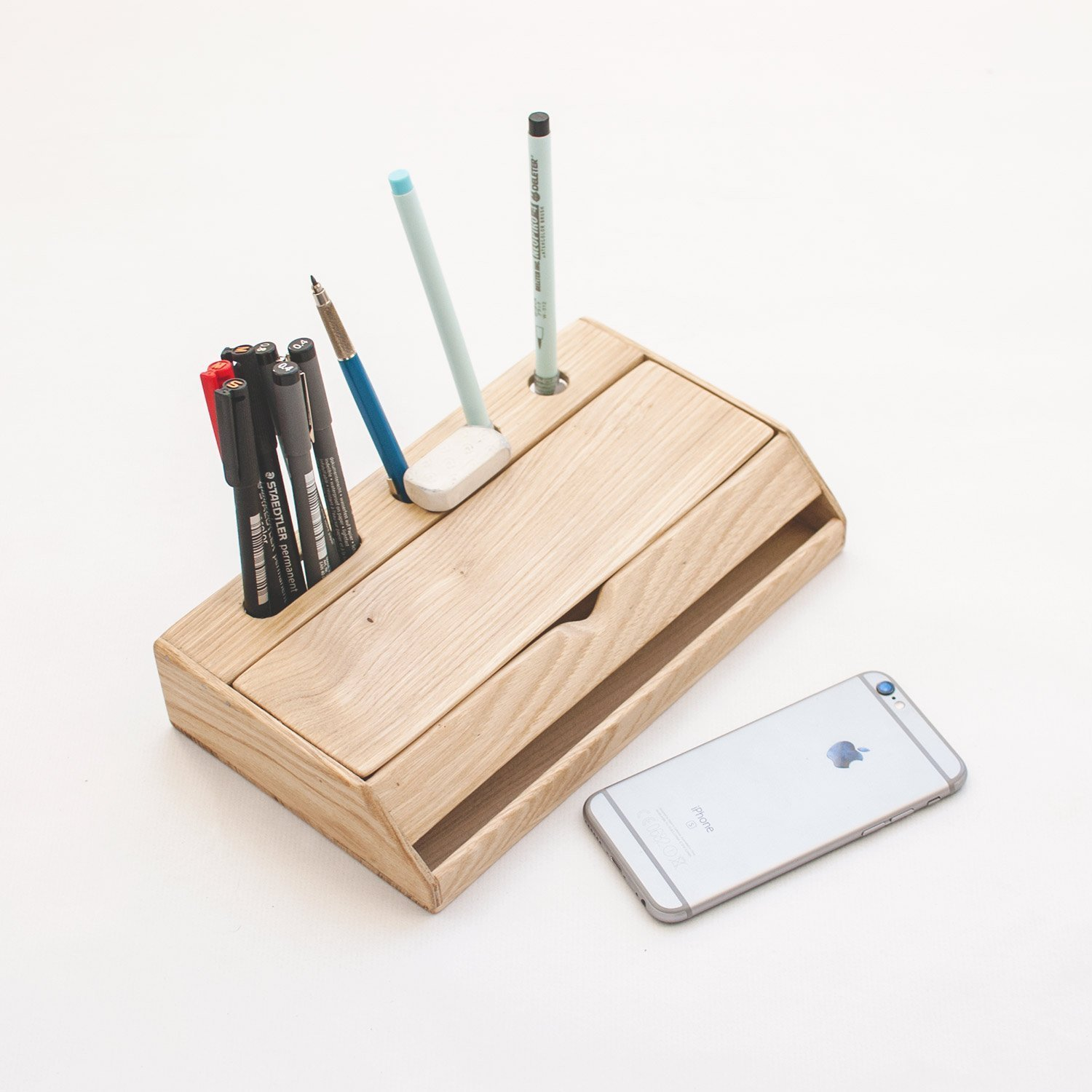 Amazon.com: Wood desk organizer - Office desk organization