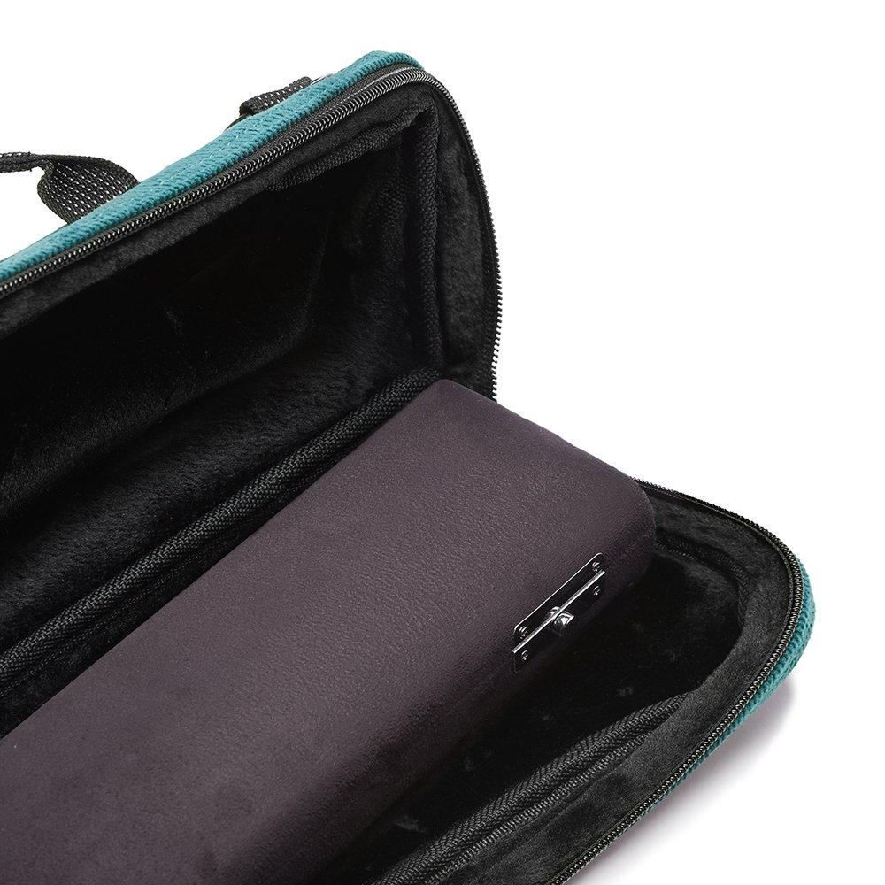 Flute Case Cover - Beaumont C-Foot Flute Bag - Teal - Corduroy by Beaumont (Image #4)