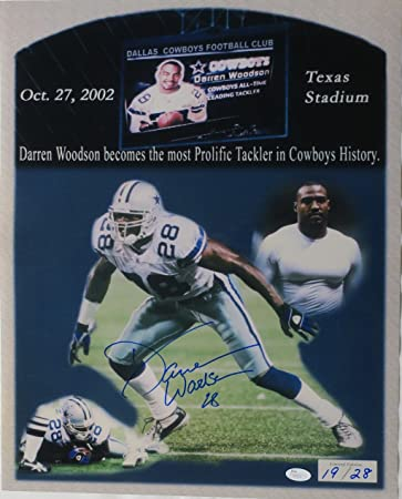 e1c564097 Image Unavailable. Image not available for. Color: Darren Woodson Signed  Cowboys ...