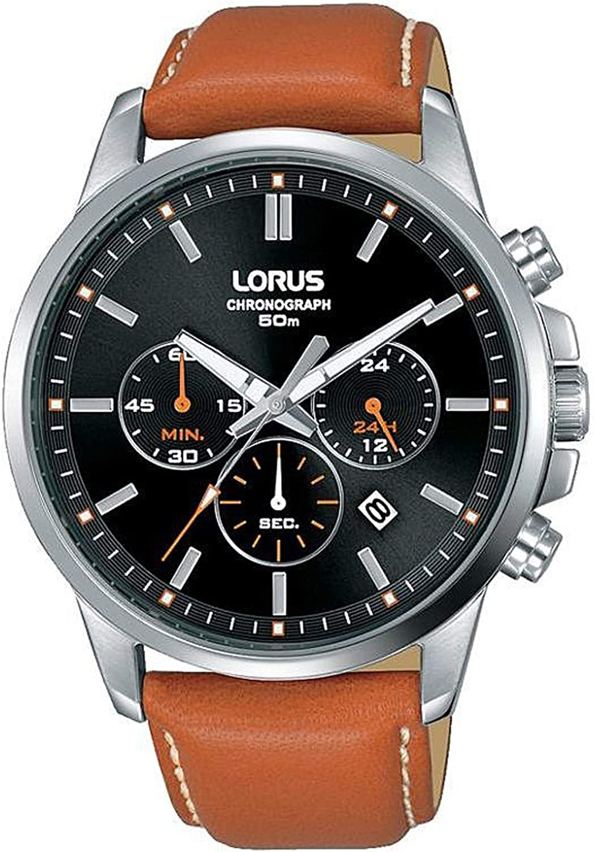 LORUS Reloj Analógico para Hombre de Cuarzo con Correa en Cuero 8431242954288