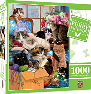 MasterPieces Furry Friends Jigsaw Puzzle, Trouble Makers, Featuring Art by Marcello Corti, 1000 Pieces