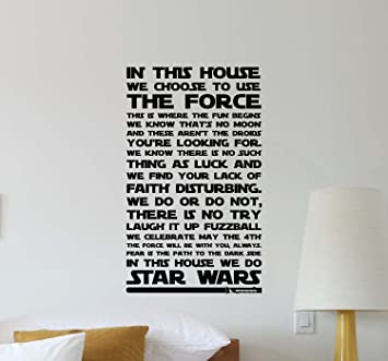 inspirational design star wars wall. In This House We Do Star Wars Wall Decal Quote Movie Inspirational Sayings  Lettering Vinyl Sticker Amazon com