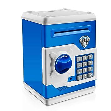Jhua Spardose mit Passwort Zähler für Kinder Mädchen Sparschwein Gelds Rot 3D Puzzles