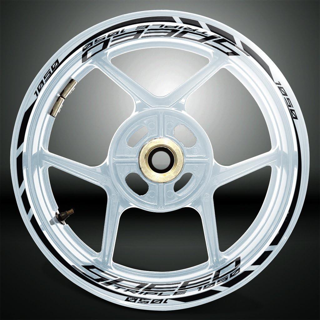 2 Tons Am/éthyste Jante de Moto d/écalcomanies Autocollant Accessoire pour Triumph Speed Triple 1050