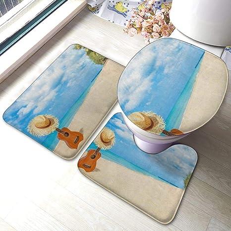 Custom Non-Slip Bathroom Soft Carpet Rug Guitar Bath Mat