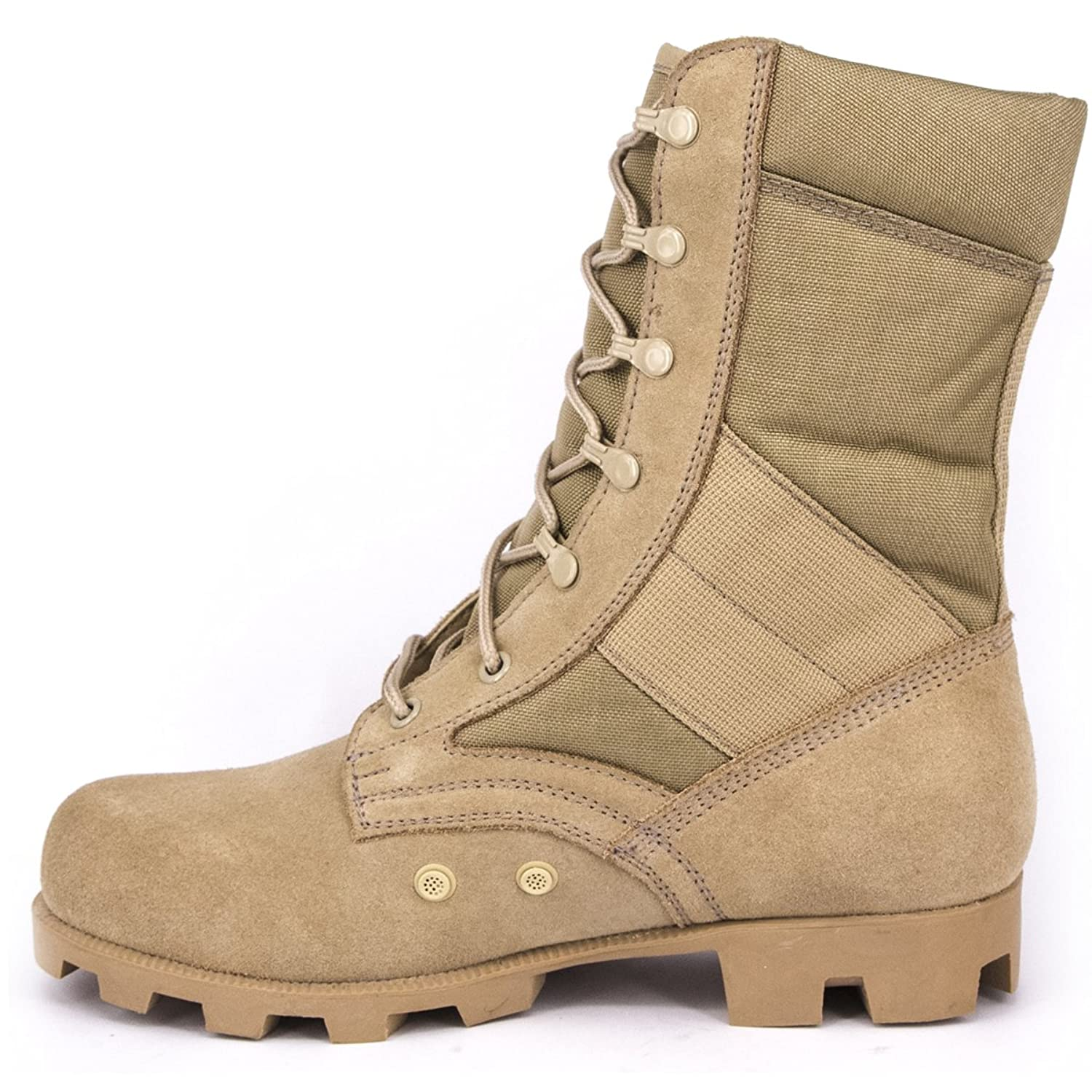 Men's Leather Military Jungle Water Resistant Combat Boots - DeluxeAdultCostumes.com