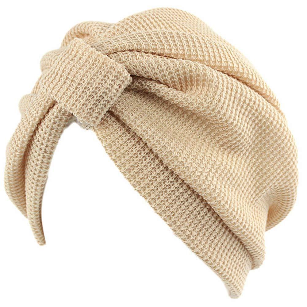 Amorar Womens Cotton Indian Hut Handgemachte Knoten Turban Hut
