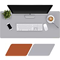 Large Desk Mat 90x40cm, Double-Sided Desk Pad, PU Leather Gaming Mouse Pad for PC Laptop, Waterproof Mouse Keyboard Mat…