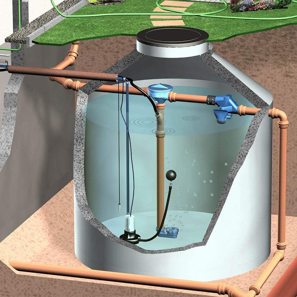 Regenwassertank Tauchpumpe mit schwimmender Ansaug-Armatur f/ür die Entnahme des Regenwassers aus der Zisterne BZW 3P Pumpenfu/ß f/ür eine Tauchdruckpumpe BZW