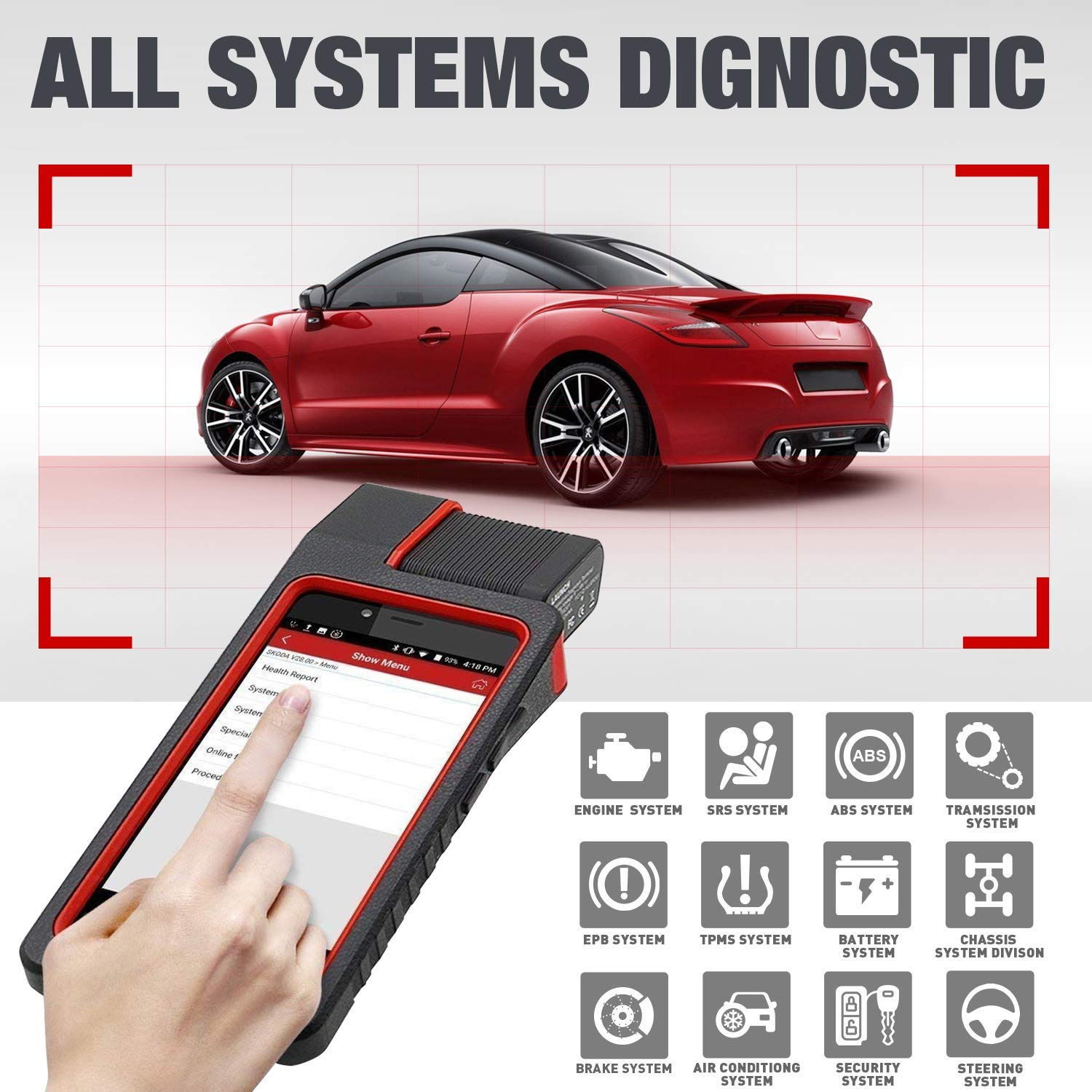 LAUNCH X431 DIAGUN IV WiFi/Bluetooth OBD2 Scanner Auto Full System Diagnostic Tool Support ECU Coding,Actuation Test,Remote Diagnostic 11 Reset Functions Diagnostic Report - Free Update 2 Years by LAUNCH (Image #4)