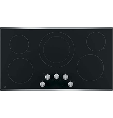 "GE JP3036SLSS 36"" Electric Cooktop with 5 Elements, Smoothtop Style, Keep Warm Zone"