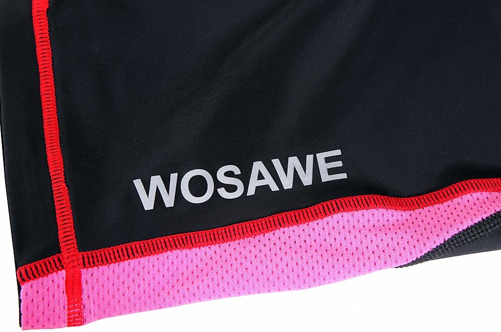 WOSAWE Womens Compression Tights Cycling Gel Five Pants Base Layer Running