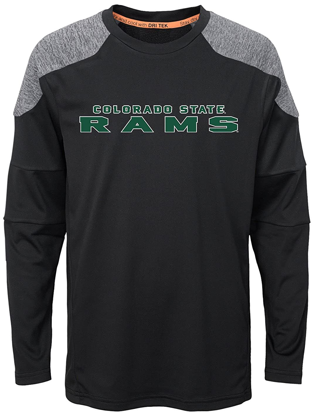 6-8 NCAA Colorado State Rams Boys Outerstuff Gamma Long Sleeve Performance Tee Team Color Youth Small