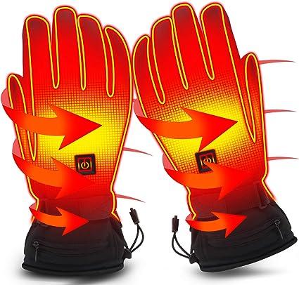 Winter Warmer Touch Screen Bike Gloves USB Electric Powered Heating Heated Washa