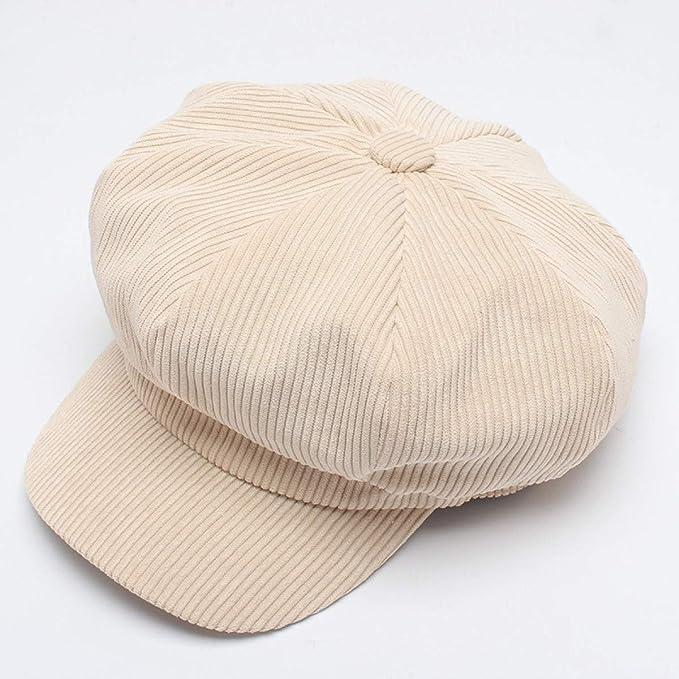 3f55248cb306c Baker boy Cap Hat Beret Corduroy Octagonal Cap Painter Hat Men ...