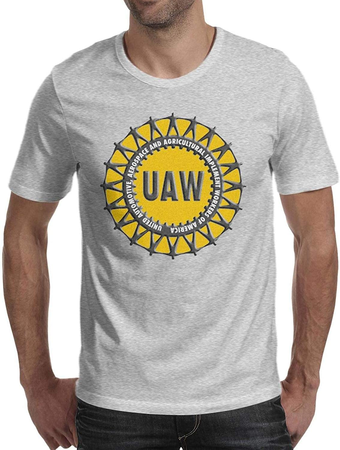 FPPING United-Automobile-Workers-UAW Mens Cool T Shirt 100% Cotton Short Sleeve Shirt