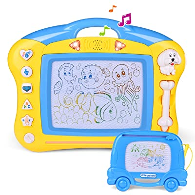 FunLittleToy Magnetic Doodle Drawing Board, Toddler Learning Toys for Writing, Sketching, Travel Toys for Kids Gift: Toys & Games