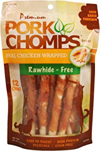 Scott Pet Pork CHOMPS Real Chicken Mini Twist 12CT