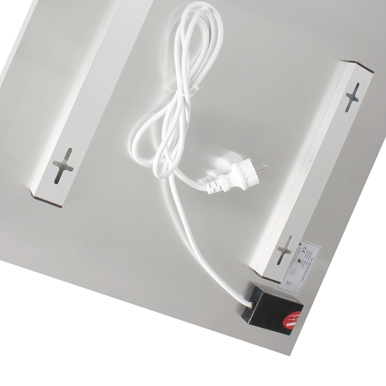 schwarz Viesta H580-GS Infrarotheizung Glas 580 Watt Elektroheizung mit /Überhitzungsschutz flache Glasheizung aus Sicherheitsglas Heizpaneel mit h/öchstem Wirkungsgrad dank Carbon Crystal Technologie