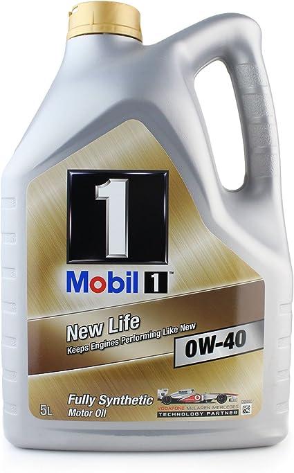 Mobil 1 151048 New Life - Aceite sintético de Motor (0W-40, 5 l ...