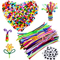 Amazon.com deals on 500 Pcs Pipe Cleaners Set Craft Supplies