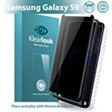 Galaxy S9 Privacy Screen Protector Klearlook Unique Privacy Defender Anti Spy Tempered Glass Protector with [Back Skin,Easy Install Tool] Anti Peeking Screen Protector for Galaxy S9