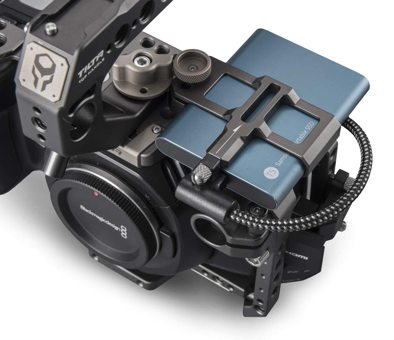 Tilta Gray TILTA TA-T01-B-G BMPCC 4K Telecamera Gabbia Basic Kit Camera Cage Blackmagic Pocket Cinema Camera 4K Rig Basic Kit