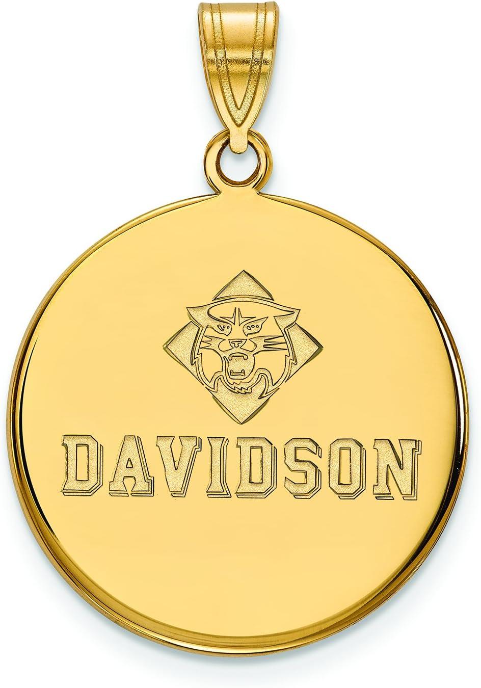 10 ky Davidson College Largeディスクペンダント