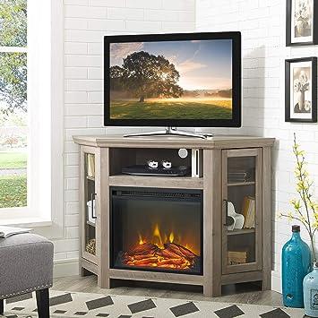 Amazon Com Corner Fireplace Tv Stand Electric Fireplace Heater