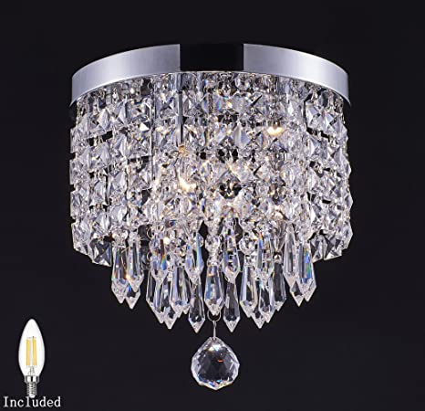 Smart lighting 1 light modern crystal chandelier pendant ceiling smart lighting 1 light modern crystal chandelier pendant ceiling lamp chrome finish crystal aloadofball Images