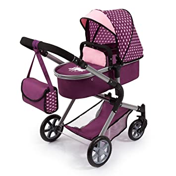 Bayer Design- Cochecito de Muñecas City Neo, Convertible, Color Rosa (18137AA)