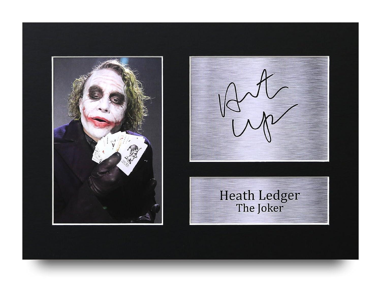 HWC Trading Heath Ledger Geschenke Unterzeichneten A4 Gedrucktes Autogramm The Dark Knight Batman Joker Druck-Foto-Bilderanzeige