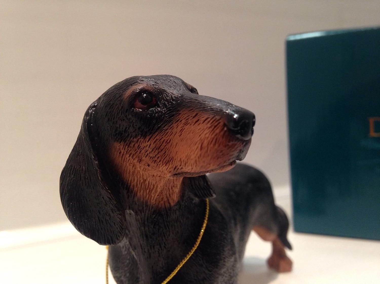 Est/ándar en miniatura negro y marr/ón Daschund dise/ño de perro regalo figura decorativa