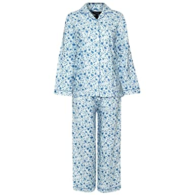 New Womens Ladies Pyjamas Set Winceyette Brushed Cotton Flannel Floral PJS  Warmth UK 12-24  Amazon.co.uk  Clothing 5079db878